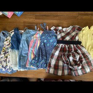 Lot of toddler dresses.